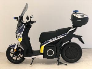 moto eléctrica policía